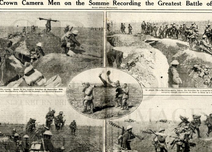 1916 WW1 Magazine MORVAL BATTLEFIELD Fred Sowrey RFC Somme Canadians WAR E. Gómez Carrillo (4110)